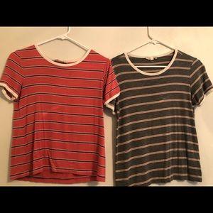 two striped shirts bundle